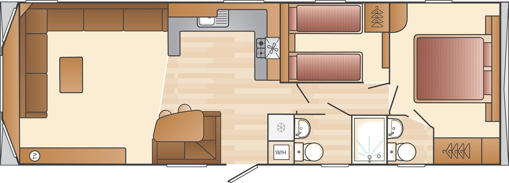 Swift Loire: New Static Caravans and Holiday Homes for Sale, Langley Moor, Durham Large Image 4