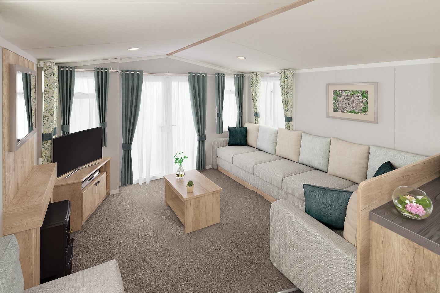 Swift Burgundy: New Static Caravans and Holiday Homes for Sale, Adderstone, Belford Large Image 1